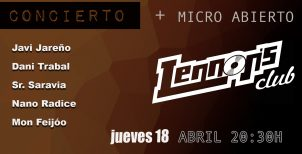 18-04-2019  / CONCIERTO + Micro abierto en Lennon's (Hospitalet)
